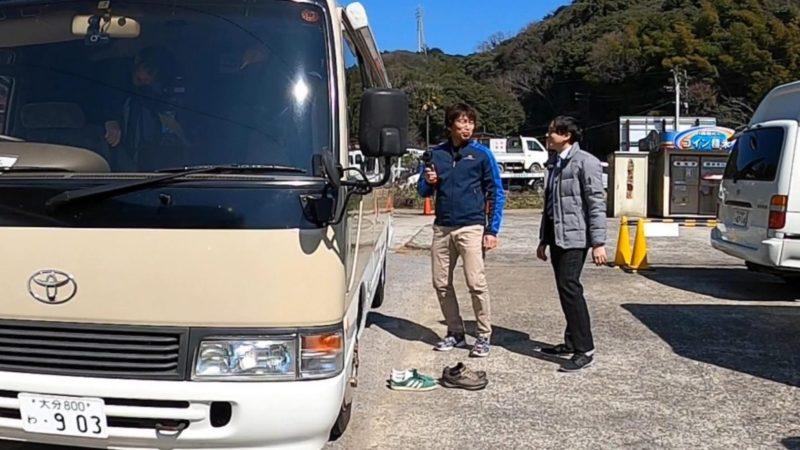 OBSテレビ取材キャンピングカー