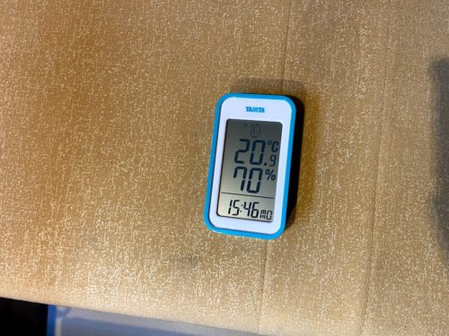一時間後の車内温度湿度