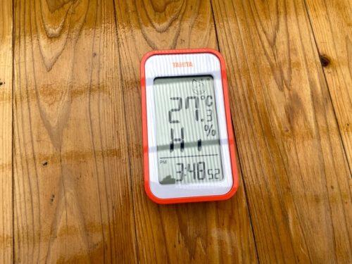 1時間後の外気温と湿度